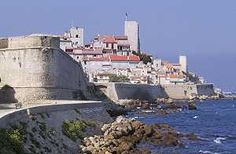 Antibes, France.  An old medieval town on the Mediterranean between Cannes and Nice
