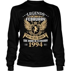 Legends Are Born In February 1994 T-Shirt_1 #gift #ideas #Popular #Everything #Videos #Shop #Animals #pets #Architecture #Art #Cars #motorcycles #Celebrities #DIY #crafts #Design #Education #Entertainment #Food #drink #Gardening #Geek #Hair #beauty #Health #fitness #History #Holidays #events #Home decor #Humor #Illustrations #posters #Kids #parenting #Men #Outdoors #Photography #Products #Quotes #Science #nature #Sports #Tattoos #Technology #Travel #Weddings #Women