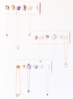 DIY Raw Crystal Necklace holder on Julep
