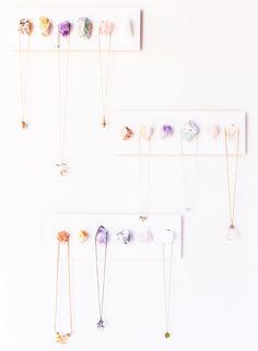 DIY Raw Crystal Necklace holder on Julep