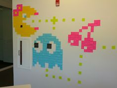 Post-It Art: Ms. Pacman