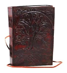 Sacred Oak Tree Leather Journal / Sketchbook / Book of Shadows (Unlined) | The Magickal Cat Online Shop