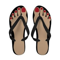 Funny Feet Black Flip Flops Sandalei_sandal