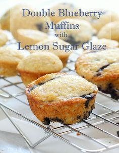 Double Blueberry Muffins with Lemon Sugar Glaze - we're on batch number 2 in 3 days.  That's a good sign!!  | Liv Life @livlifetoo #blueberry #summerbaking