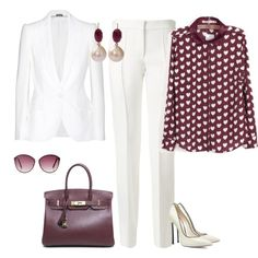 outfit 1937 by natalyag on Polyvore featuring moda, Alexander McQueen, Victoria Beckham, The Limited, Casadei, Hermès and Sylva & Cie