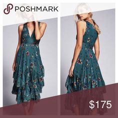 Free People Tiered Teal Green Dress Stunning dress, brand new with tags! Free People Dresses