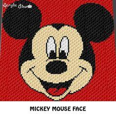 Graphgan Pattern - Corner to Corner - - SC - Boy Mouse Face Cartoon Crochet Graphgan Blanket Afghan Crochet Graph Chart Pattern C2c Crochet Blanket, Crochet For Beginners Blanket, Crochet Afghans, Crochet Blanket Patterns, Beginner Crochet, Mickey Mouse Blanket, Crochet Mickey Mouse, Minnie Mouse, Disney Crochet Patterns