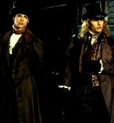 Interview with the Vampire - One of my all time favorite movies and book. Louis and Lestat(Brad Pitt and Tom Cruise)