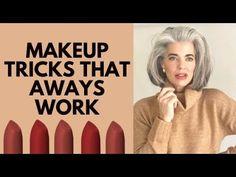 Makeup Tips Over 40, Makeup Tips For Older Women, Eye Makeup, Hair Makeup, Corrector Concealer, Beauty Studio, Beauty Hacks, Beauty Tips, Beauty Products