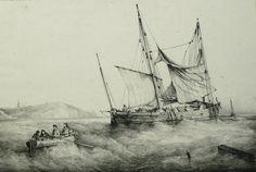 Paintings by Ferdinand Perrot - Petit Caboteur Bas-Breton