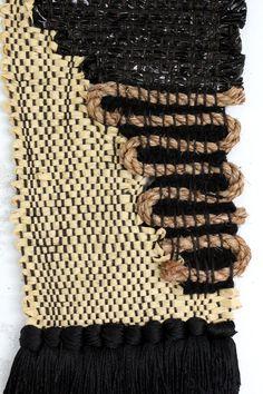 All Roads Sisal Sketch Weaving. Plastic, raffia, wool, jute and silk. Part of the Santa Ana Collection.  Via http://www.allroadsdesign.com/