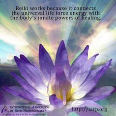 Reiki works because it connects the universal life force energy with the body's innate powers of healing.