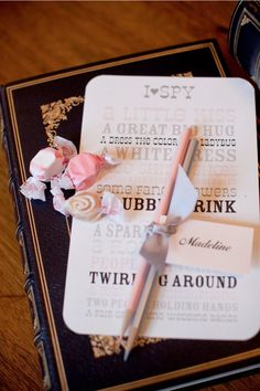 library-themed wedding