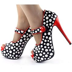 Show Story Two Tone Mary Jane Strappy Stiletto Pumps,LF80806RD39,8US,Red List Price: $79.99 Sale Price: $59.99