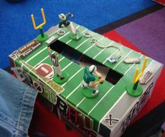 football valentine box...Jakob is all about it!