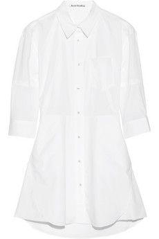 Acne Studios Dee Solid cotton shirt dress @NET-A-PORTER.COM