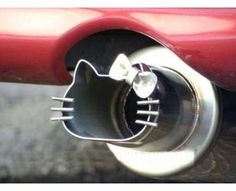 Never liked Hello Kitty but this exhaust pipe is really cool