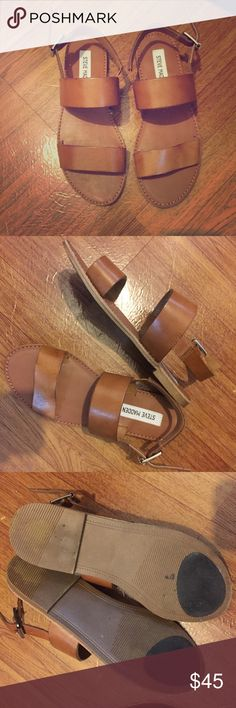 Steven madden leather brown sandals size 6.5 Steven madden. Like new. Size 6.5…