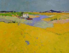 Provence by Jan Groenhart, Dutch artist Abstract Landscape Painting, Landscape Art, Landscape Paintings, Abstract Art, Art Paintings, Landscape Prints, Landscape Design, Dutch Artists, Art Moderne