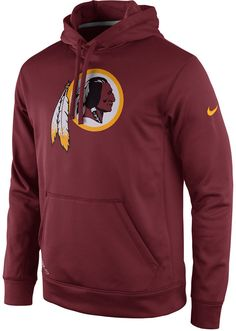 Wear the Washington Redskins men's Practice Performance PO hoodie to stay warm and comfortable during the chilly months of fall and winter football season. You'll feel proud to display your favorite team with the pullover hoodie while you watch the game or gather with friends. Attached hood with drawstring Long sleeves Kangaroo-style pocket Screen print team logo at front Screen print Nike swoosh logo at left sleeve Dri-FIT moisture-wicking technology Officially licensed Polyester Machine…