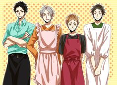 HQ!!Housewives, their husbandos are lucky // Iwaizumi Hajime, Sugawara Koushi, Yaku Morisuke & Akaashi Keiji - Haikyuu!! / HQ!!