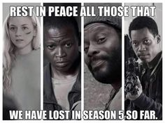 RIP Season 5. I absolutely LOVE Beth and Tyreese. I don't mind the other 2, but these 2 i absolutely LOVE. To bad they died.