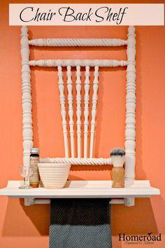 Homeroad-Antique Chair Back Shelf