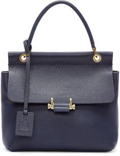 Lanvin Navy Mini Essential Bag. $1,012 #handbags #designerhandbags #purse #clutch #designerbags