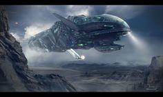 'The Decima' - concept art by Dragos Jieanu for a sci-fi novel 'PERIL'