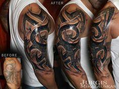 Pin by Tonya Martinez on Dan Tattoo sleeve cover up Cover, Tribal Cover Up Tattoo Com. Pin By Tonya Martinez On Dan Tattoo Sleeve Cover Up Cover. 3d Tribal Tattoo, Tribal Tattoo Cover Up, Tattoo Sleeve Cover Up, Tribal Cover Up, Cover Up Tattoos For Men, Family Tattoos For Men, Tribal Shoulder Tattoos, Full Sleeve Tattoo Design, Cover Tattoo