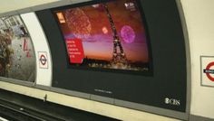 Mini-travel guides come to digital screens on the London Tube
