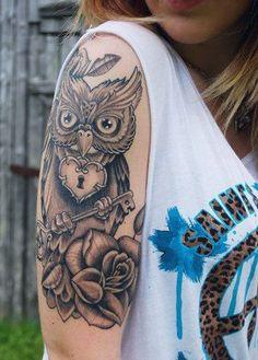 47 Owl Tattoo