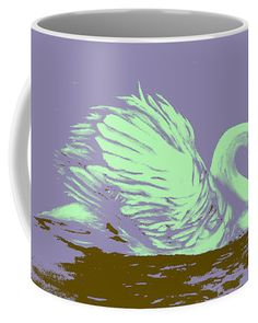 Swan Coffee Mug featuring the painting Dream Swan by Faye Anastasopoulou Fusion Art, Ocean Scenes, Mugs For Sale, My Themes, Basic Colors, Artist At Work, Color Show, Swan, Colorful Backgrounds