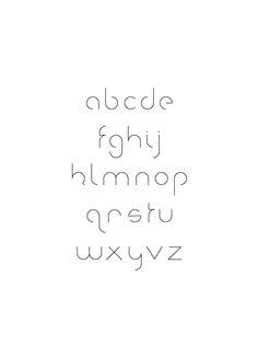 geometric headline typeface inspired by Century Gothic and Gotham