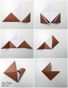 Reindeer Origami Corner Bookmark - Easy Peasy and Fun