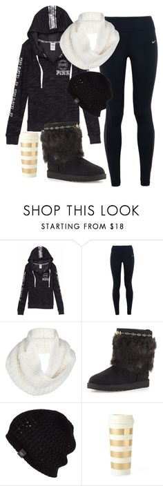 """""""It's 80° out but I like winter outfits"""" by star-lightt ❤ liked on Polyvore featuring Victoria's Secret, NIKE, UGG Australia and Kate Spade"""