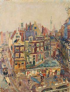 Jan Sluijters (Dutch, 1881-1957), The Old Beurspoortje and...