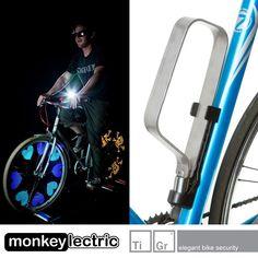 Win Monkey Lights for your bike wheels and a TiGr titanium bike lock!