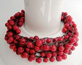red bead necklace adjustable