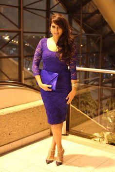 Cobalt blue. Asos dress. Valentino heels