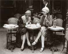 Women Sitting at a Cafe Terrace Art at AllPosters.com