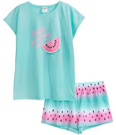 Cute Pajama Sets, Cute Pajamas, Girls Pajamas, Cute Lazy Outfits, Kids Outfits Girls, Teenager Outfits, Girls Fashion Clothes, Teen Fashion Outfits, Swag Outfits