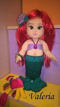 Купить Кукла русалочка Ариэль - тёмно-зелёный, кукла ручной работы, кукла интерьерная, пупс