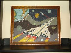 Vintage Paint by Number Ultra Rare Space Scene one of a kind will Warhol PBN | eBay