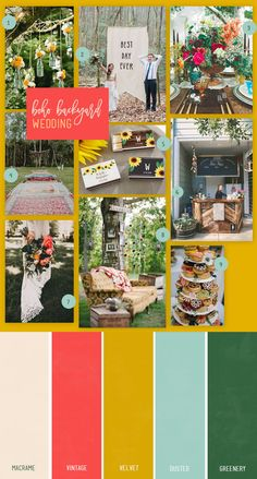 A backyard wedding is the perfect type of wedding to share your love of boho details. Lots of colors, florals and fun details come into play with a boho backyard wedding. Landscaping Supplies, Backyard Landscaping, Short Plants, Bohemian Wedding Inspiration, Fish Ponds, Heuchera, Wedding Favors, Wedding Ideas, 5 W
