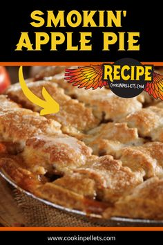 Smokin' Apple Pie Recipe. The smoked flavor perfectly complements the apple in the pie. BBQ desserts are so delicious - if you have never tried one, you should start with this easy recipe. Pellet grilling apple pie is so easy, and this smoker recipe makes it even easier. Traeger Recipes, Smoked Meat Recipes, Grilling Recipes, Grilling Tips, Traeger Smoker, Venison Recipes, Sausage Recipes, Apple Pie Recipes, Fruit Recipes