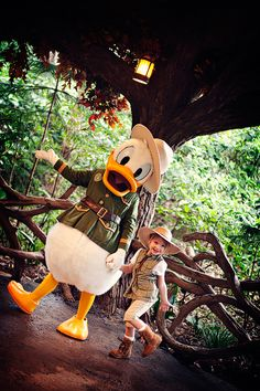 Donald & pal getting ready to go on a trek