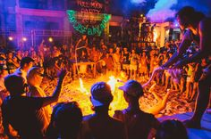 The Beginner's Guide to The Full Moon Party in Thailand • The Blonde Abroad Thailand Travel, Asia Travel, Full Moon Party Thailand, Fire Dancer, Vientiane, People Dancing, How To Attract Customers, Koh Tao, Small Island