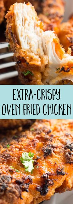 Everyone will love this crispy oven fried chicken recipe – it's so simple to make but so full of flavor. Serve it with the sides of your choice for a new family-favorite dinner!
