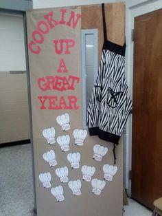 Cooking themed classroom door